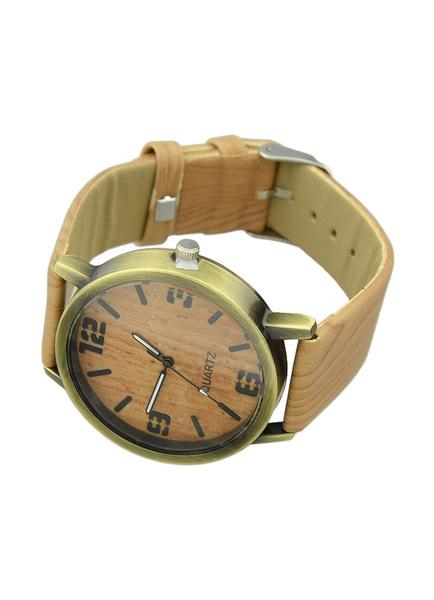 Женские коричневые часы с Faux Кожаный ремешок