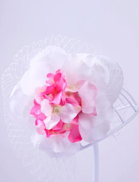 Vintage Wedding Hat Silk Flower Organza Bridal Headpieces фото
