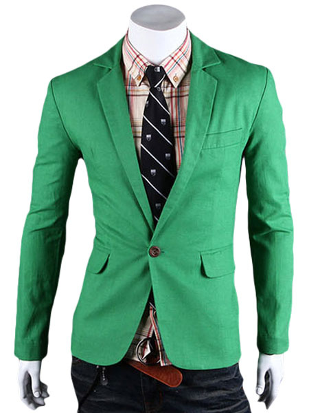 Quality Solid Color Linen Casual Blazer For Man фото