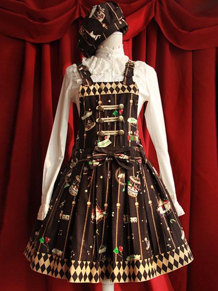 Cartoon Print Classic Cotton Sleeveless Lolita Dress фото