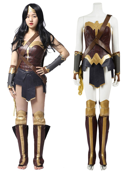 Wonder Woman Diana Prince Halloween Cosplay Costume фото