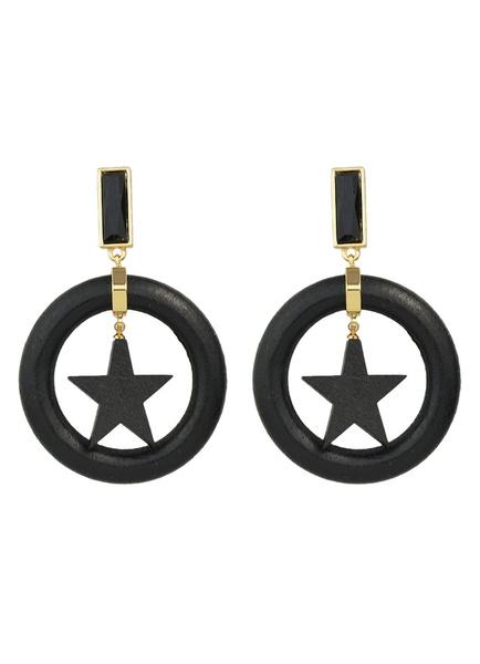 Square Hoop Dangle Earrings Alloy Star Drop Earrings For Women
