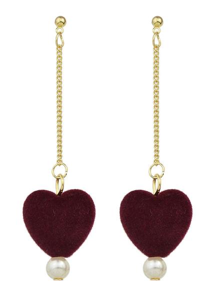 Pom Poms Pearl Pierced Dangle Earrings For Women фото