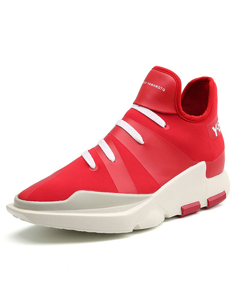 Платформа красный обувь кроссовки зашнуровать мужская спортивная обувь