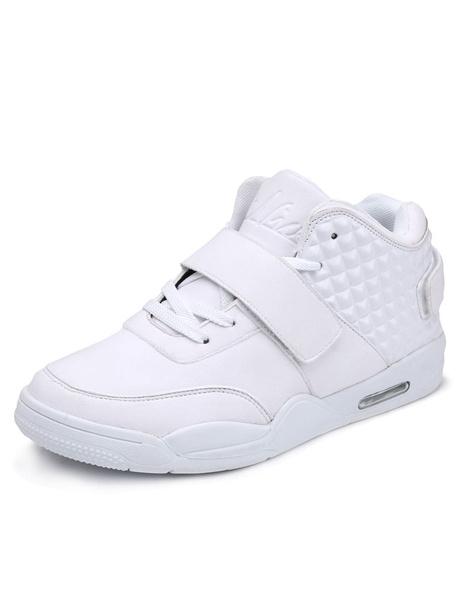 Платформы Белые кроссовки зашнуровать спортивная обувь искусственная кожа мужской