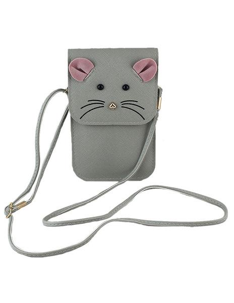 Gris souris modèle petit sac à bandoulière sacs féminines simili cuir