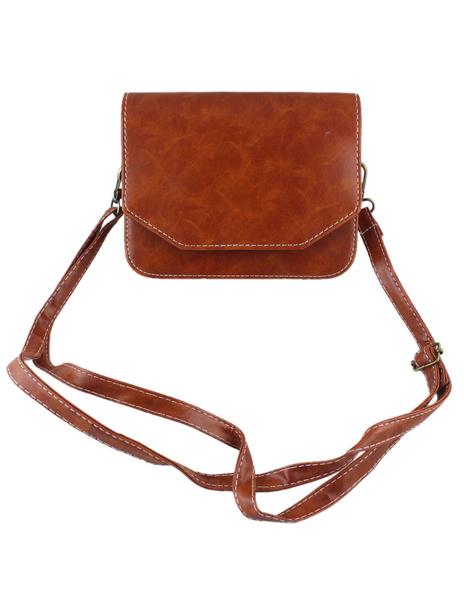 Brown Shoulder Bag Women's Adjustable Clutch Squared Crossbody Bags