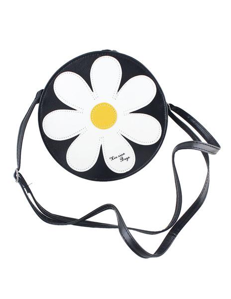 Sacs à bandoulière blanc simili cuir rond forme fleurs modèle petit Crossbody Bags