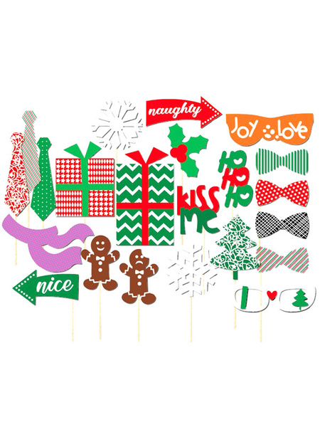 Christmas Photo Props Wedding Green 20 Pcs Photo Booth фото