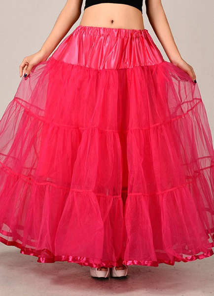 Red Wedding Petticoats Taffeta Two Tier A Line Boneless Bridal Petticoats