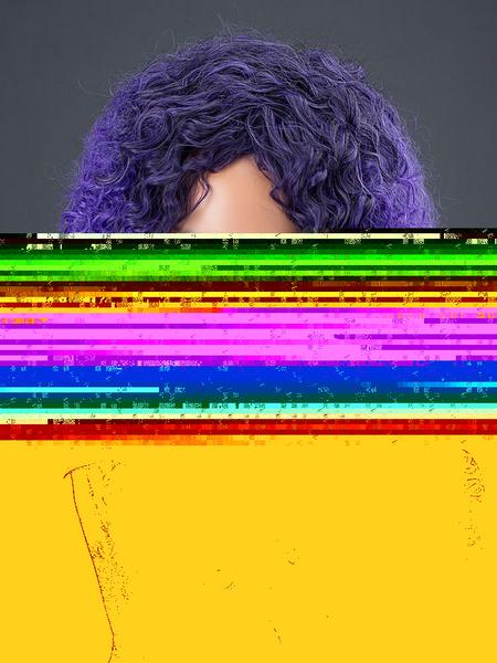 Women's Hair Wigs Lavender Long Corkscrew Curls Synthetic Wigs фото