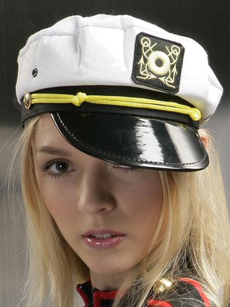 Sexy Sailor Costume White Canvas Sailor Hat For Women