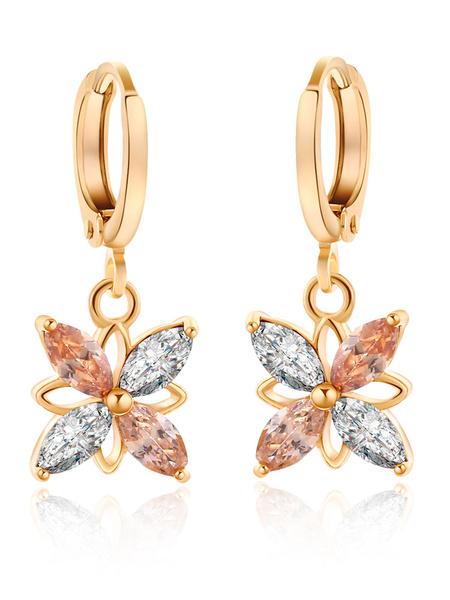 Women's Dangle Earrings Rhinestones Beaded Pendant Earrings фото