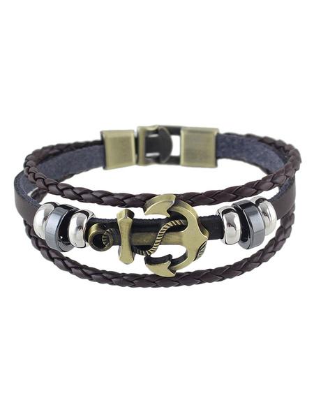 Women's Suede Bracelet Brown Metal Detail Bracelet фото