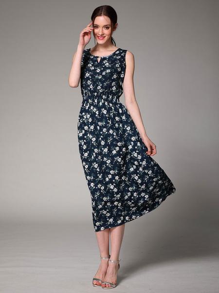 Beach Summer Dress Floral Print Sunshine Dress For Women