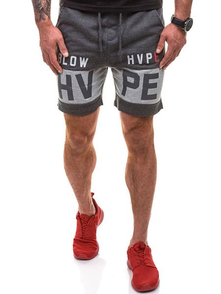Мужские спортивные шорты темно-серые буквы печатные шорты Джерси