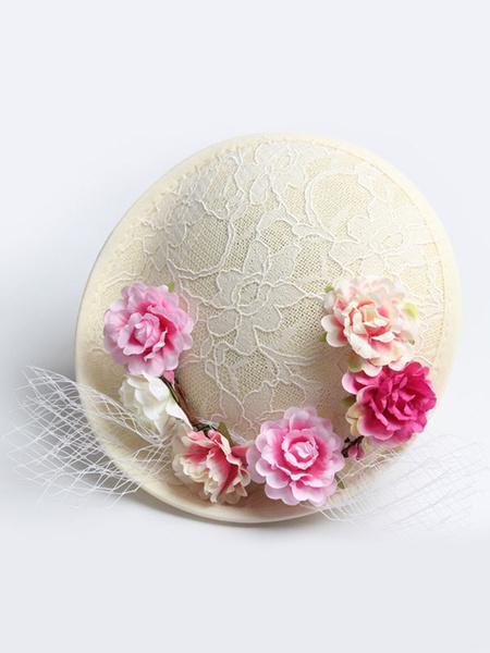 Royal Wedding Fascinator Hat Lace Flowers Vintage Bridal Headpieces фото