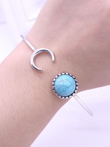 Cuff Bangle Bracelet Silver Beaded Women's Bracelet Jewelry фото