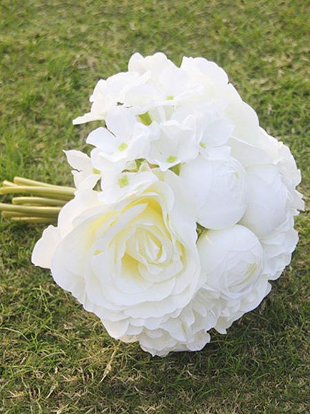 Image of Fiori di seta bouquet bello per la cerimonia di nozze