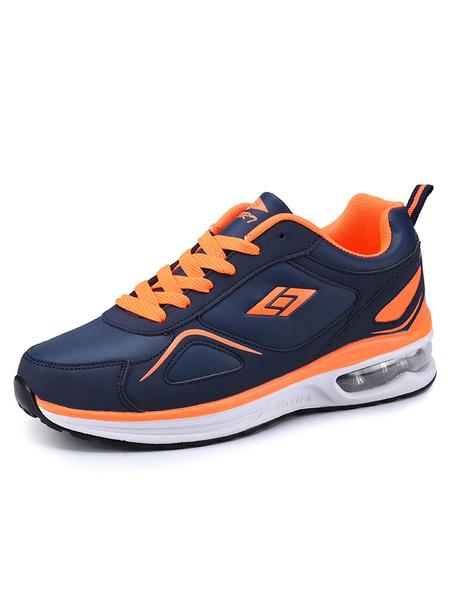 Мужские кроссовки двухцветный круглый носок зашнуровать кроссовки