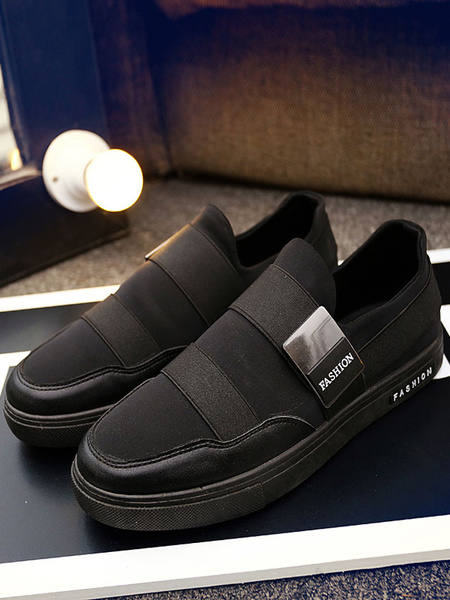 Men's Skate Shoes Round Toe Bandage Patchwork Metallic Detail Casual Shoes