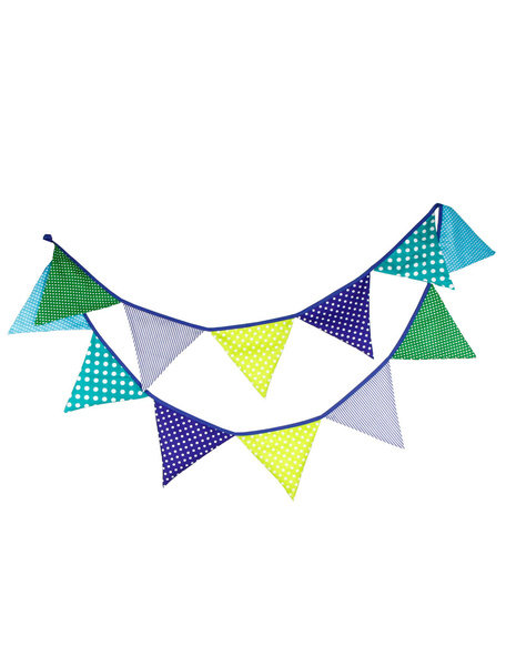 Blue Wedding Decorations Multicolor Printed Triangle Bunting Banner Flags Clipart фото