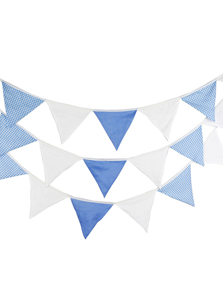 Wedding Banner Flags Clipart White Blue Triangle Bunting Decorations фото