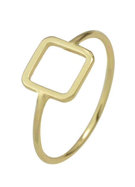 Image of Anelli di fidanzamento di oro femminile anelli in lega forma quadrata geometrica