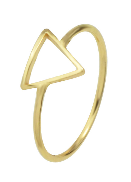 Gold Women's Rings Alloy Geometric Triangle Shape Engagement Rings Milanoo