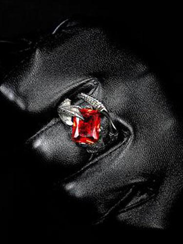 Anelli uomo argento anelli in acciaio strass perline stile Punk