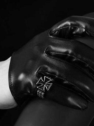 Anelli d'argento Punk stile uomo Cross modello in acciaio anelli