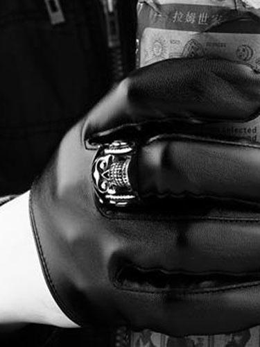 Anelli d'argento punk cranio anello Vintage in acciaio inox maschile