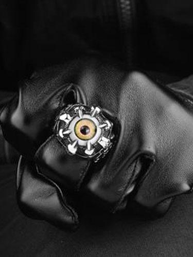 Anelli d'argento punk Evil Eye Vintage anello inox uomo