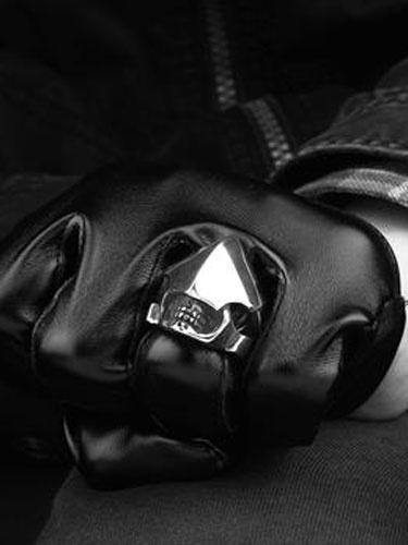 Argento in acciaio inox anello Vintage anelli Punk maschile
