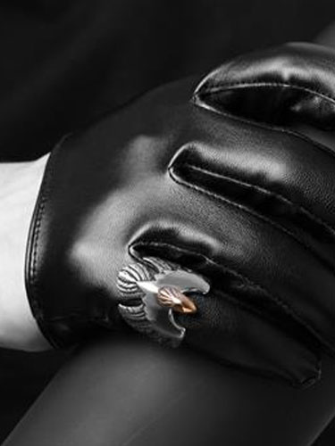 Argento anello Vintage Punk anello maschile in acciaio inox