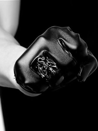 Anelli d'argento punk dinosauro Vintage anello inox uomo