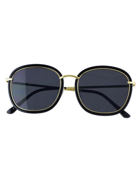 Black Women's Glasses Resin Beach Beach Sunglasses