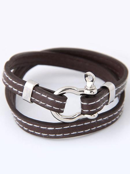 Женский браслет пряжки искусственного кожаный ремень браслет