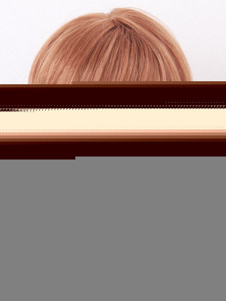 Human Hair Wigs Short Straight Women's Side Swept Bangs Deep Brown Wigs
