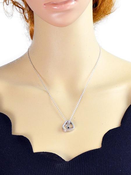 Silver Pendant Necklace Chic Heart Shape Women's Necklace