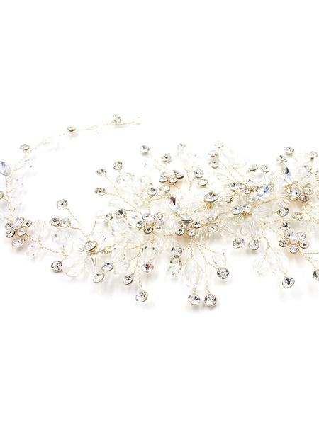 Copricapo di cristallo bianco donna il giorno del fidanzamento accessori