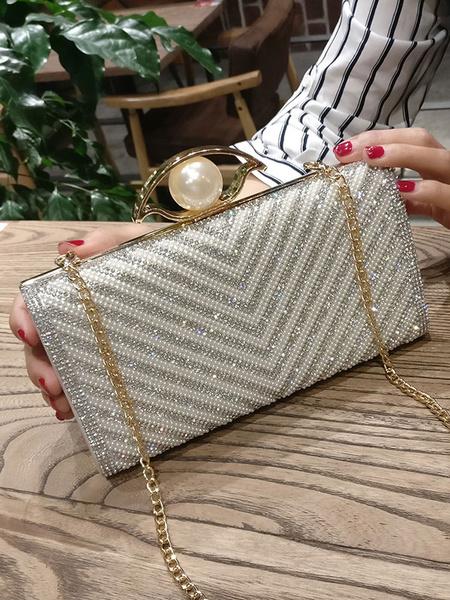 Noces d'argent embrayages Glitter soirée perle sacs à bandoulière