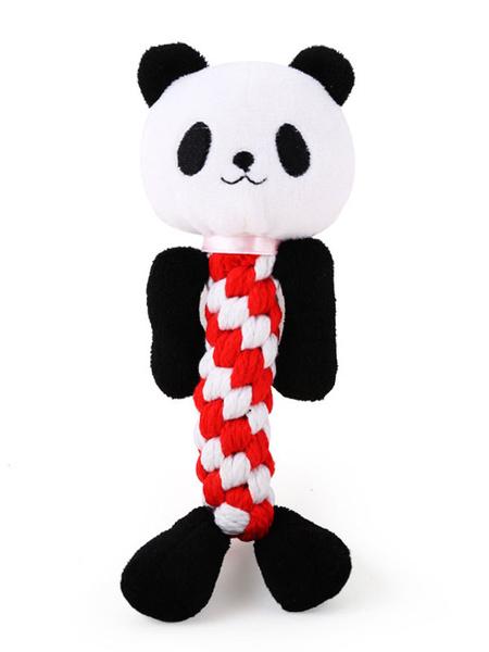 Bild von Haustier ausgefallene Spielzeug Baumwolle verdreht Lollipop Form beständig Biss klingenden Spielzeug Karneval