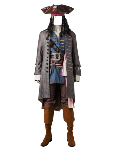 Pirates Of The Caribbean Dead Men Tell No Tales Captain Jack Halloween Cosplay Costume
