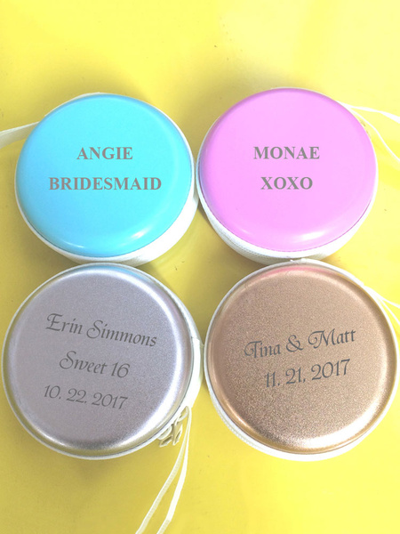 Personalized Coin Purse Canvas Wedding Favor Box Random Color