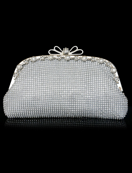 Evening Clutch Bag Gold Rhinestones Beading Glitter Wedding Bridal Purse (usa40680144) photo