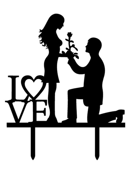 Wedding Cake Toppers Black Love Wedding Decorations