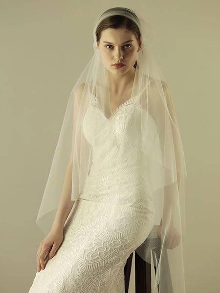 Juliet Cap Wedding Veils Cut Edge One Tier Vintage Bridal Veils