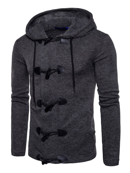 Image of Men's Cardigan Sweater Hooded Long Sleeve Regular Fit Casual Sweater
