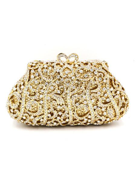 Купить со скидкой Hochzeit Handtasche für die Braut mit Pop-Art Muster in Golden klein (46cm-61cm) im eleganten & luxu